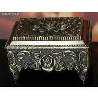 Szkatułka kuferek róże stare złoto ()