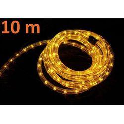 Wąż świetlny ogrodowy 10 m żółty - 360 mini żarówek