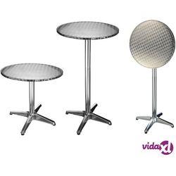HI Składany stolik bistro, aluminiowy, okrągły, 60 x 60 x (58-115) cm (4034127602973)