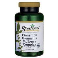 Swanson Cynamon & Gymnema Sylvestre & Morwa Biała 120 kaps. (Preparaty na poziom cukru)