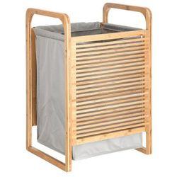 Bambusowy kosz na pranie, 35x40x60, kolor szary (3560234519787)