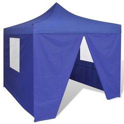 niebieski, składany namiot, 3 x m, z 4 ściankami marki Vidaxl