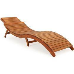 Wideshop Drewniany leżak ogrodowy ergo z drewna akacjowego