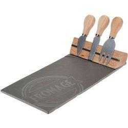 Deska do serów i przekąsek + 3 noże w zestawie (8719202113563)