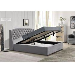 Łóżko z materacem tapicerowane 140x200 sfg025 welur marki Meblemwm