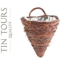 Tin tours sp.z o.o. Kwietnik z brzozy na ścianę 35x30x38/48h cm