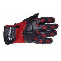Inmotion Rękawice motocyklowe czarno-czerwone skórzane siatka