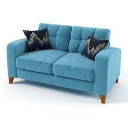 Meblo dom Sati sofa 2 osobowa na nóżkach bez funkcji spania z pikowanymi poduszkami