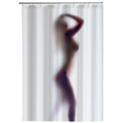 Zasłona prysznicowa, tekstylna, wzór sylwetka sexy, 180x200 cm, WENKO