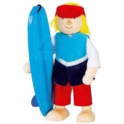 Postać do teatrzyku dla dzieci - surfer, zabawa w teatr z kategorii pacynki i kukiełki
