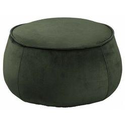 Elior Okrągły zielony podnóżek welurowy - arktos 3x