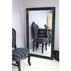 Design by impresje24 Lustro, drewniana, czarna rama, ornamenty.