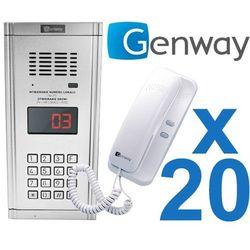 Genway Zestaw domofonowy 20 rodzinny wl-03nl