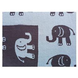 Lula Design Bawełniany kocyk niemowlęcy Słoń granatowy 498 | U NAS SKOMPLETUJESZ CAŁĄ WYPRAWKĘ | SZYBKA WYSYŁKA (5906732720498)