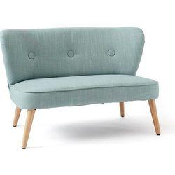Kids concept Sofa dla dzieci jasnoniebieska na drewnianych nogach