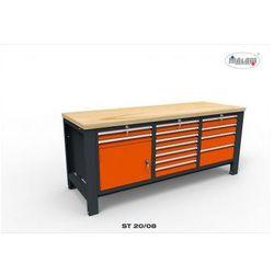 """Stół narzędziowy st 20/08 """"trójka"""" warsztatowy metalowy na klucz marki Malow"""