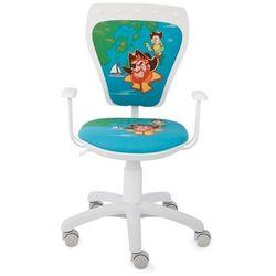 Nowy styl Obrotowe krzesło dziecięce ministyle white - pirate