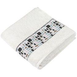 Bellatex  ręcznik kamienie biały, 50 x 100 cm