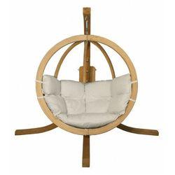 Fotel wiszący do ogrodu ecru - parys 2x marki Producent: elior