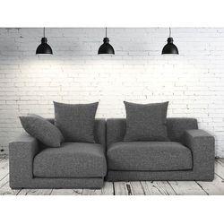 Sofa narozna P - tapicerowana - grafit - CLOUD - produkt dostępny w Beliani