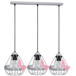 Milagro kago mlp4933 lampa wisząca dziecięca 3x60w e27 szary mat / różowy