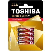 TOSHIBA Bateria Alpha Energy AAA LR03 TOSHIBA LR03 ALPHA ALKALINE AAA