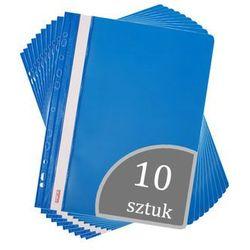 Skoroszyt A4 wpinany do segregatora PVC 10 sztuk - niebieski (2501234503087)