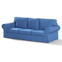 pokrowiec na sofę ektorp 3-osobową, nierozkładaną, niebiesko-błękitny szenil, sofa ektorp 3-osobowa, living marki Dekoria