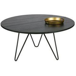 Woood Okrągły dębowy stolik czarny - Woood 387662-BN