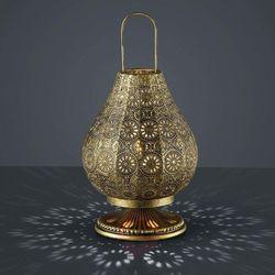 Stojąca LAMPKA nocna JASMIN 503700104 Trio orientalna LAMPA ażurowa mosiądz, 503700104