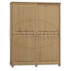 Szafa sosnowa 2d nr8 drzwi przesuwne wieszak s120 marki Magnat - producent mebli drewnianych i materacy