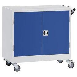 Mades Szafa na kółkach, wys. x szer. x gł. 920x920x610 mm, niebieski gencjanowy, ral 5