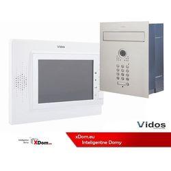 Zestaw jednorodzinny wideodomofonu VIDOS. Skrzynka na listy z wideodomofonem. Monitor 7'' S561D-SKP_M320W