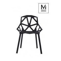 MODESTO krzesło SPLIT MAT czarne - polipropylen, podstawa metalowa, C1023.BLACK (8582234)