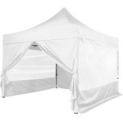 Instent ® Biały pawilon ekspresowy namiot 3x3m + 4 ścianki