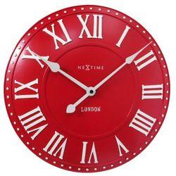 Nextime:: Zegar Ścienny London Roman ø 34,5 cm Czerwony, kolor czerwony