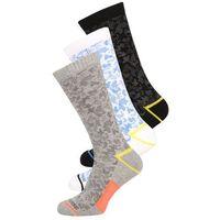 Converse 3 PACK Skarpety light grey melange/thunderwhite/soarblack, kolor szary
