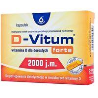 D-Vitum FORTE witamina D dla dorosłych 2000jm w ciąży okresie karmienia osteoporoza 120kaps (5904960011241)