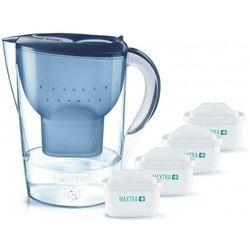 dzbanek filtrujący marella niebieska + 4 wkłady pure preformance marki Brita