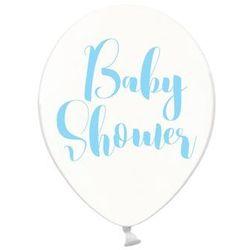 Balon przezroczysty na Baby Shower Chłopca - 30 cm - 6 szt. (5902230764323)