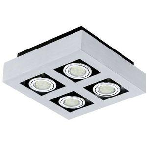 Plafon LED (Ciepła barwa światła) LOKE1 4X3W GU10 91355 EGLO, kolor szczotkowane