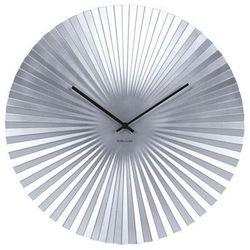 Karlsson:: Zegar ścienny Sensu srebrny