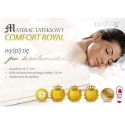 Materac lateksowy royal + poduszka 45/45 gratis! marki Hevea
