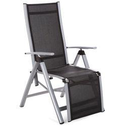 Home & garden Krzesło ogrodowe aluminiowe ibiza relax silver / black (5902425326947)
