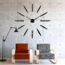 Zegar ścienny duży OWALNY czarny