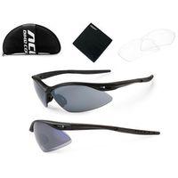 Accent 610-40-90_acc okulary  shadow czarne matowe, 2 pary soczewek: szare lustrzane, przezroczyste (590217561