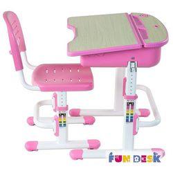 CAPRI Pink - Ergonomiczne, regulowane biurko dziecięce z krzesełkiem FunDesk - ZŁAP RABAT: KOD30, FD-CAPRI-PINK