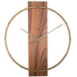 Zegar ścienny Carl brązowy, kolor brązowy