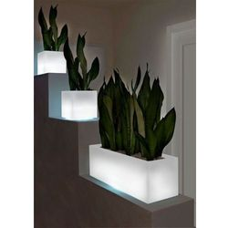 MINI KUBE donica podświetlana LED