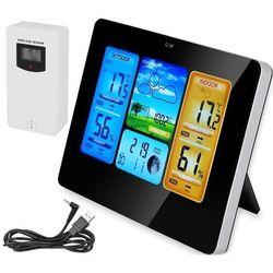 Stacja pogody termometr higrometr wyświetlacz LCD wew/zew